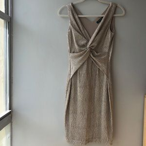 Ralph Lauren Metallic Twisted Knot Dress